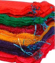 Сетки-мешки овощные 50х80 (до 40 кг) с завязками Оранжевые