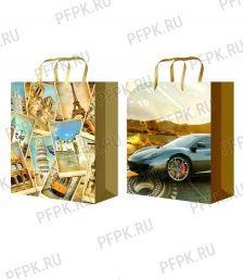 Сумочка бумажная 32х44х10 МЕГА (XL) XL-500/501 (Мужская)