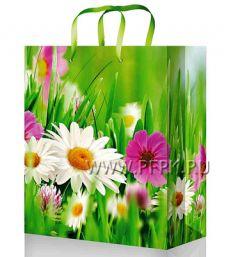 Сумочка бумажная 18х22х10 МЕГА (M) M-2267 (Цветы)