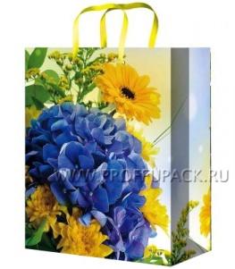 Сумочка бумажная 11х13х6 МЕГА (S) S-1032 (Красивый букет)