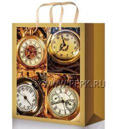 Сумочка бумажная 11х13х6 МЕГА (S) S-1084 (Мужская,часы)