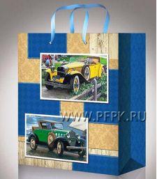 Сумочка бумажная 11х13х6 МЕГА (S) S-1083 (Мужская)