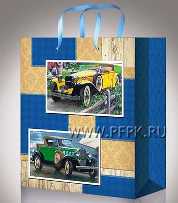 Сумочка бумажная 11х13х6 МЕГА (S) S-1083