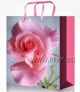 Сумочка бумажная 14х20х6,5 МЕГА (MS) MS-6092 (Роза)