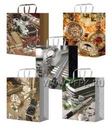 Сумочка бумажная 14х20х6,5 МЕГА (MS) MS-6137/6138/6139/6140/6141(Мужская)
