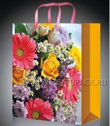 Сумочка бумажная 18х22х10 МЕГА (MP) MP-2080 (Розы); 200 шт