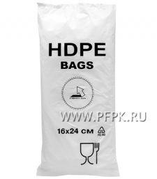 10+6х24 [16x24] евро HDPE BAGS, БЕЛАЯ (упак.)