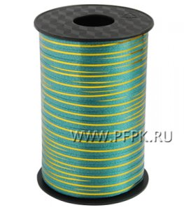 Лента на бобине цветная 0,5см х 250м FIESTA Зеленая метализированная М-4