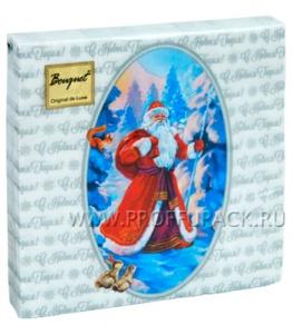 Салфетки НГ бум. DESNA BOUQUET 33х33, 2-сл.,с рис. (20 листов) Дед Мороз NEW