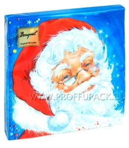 Салфетки НГ бум. DESNA BOUQUET 33х33, 2-сл.,с рис. (20 листов) Добрый Дед Мороз