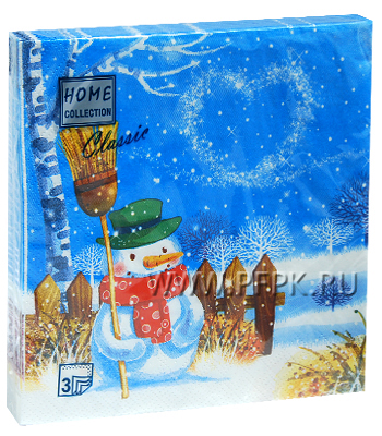 Салфетки НГ бум. DESNA HOME COLLECTION CLASSIC (20 листов) Снежная ночь
