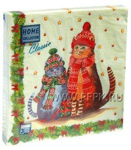 Салфетки НГ бум. DESNA HOME COLLECTION CLASSIC (20 листов) Новогодние друзья