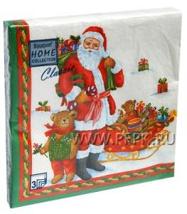 Салфетки НГ бум. DESNA HOME COLLECTION CLASSIC (20 листов) Дед Мороз с подарками