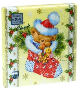 Салфетки НГ бум. DESNA HOME COLLECTION CLASSIC (20 листов) Плюшевый Мишка