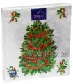 Салфетки НГ бум. DESNA BOUQUET 33х33, 3-сл.,с рис. (20 листов) Новогодняя ель