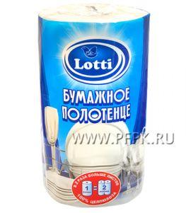 Полотенца бум. 2-сл. LOTTI (уп. 1 рул.) Белые