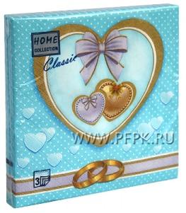 Салфетки бум. DESNA HOME COLLECTION CLASSIC (20 листов) Свадебная-1
