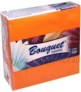 Салфетки бум. DESNA BOUQUET 25х25, 1-сл. (50 листов) Оранжевые