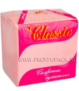 Салфетки бум. ЭЛИТ CLASSIC 24х24, 1-слойн. (70 листов) Розовые