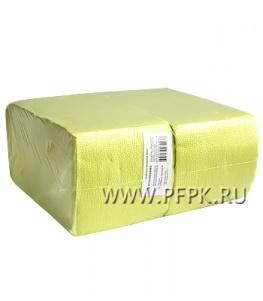 Салфетки бум. БИГ ПАК в П/Э 24х24, 1-слойн.,  (400 листов) Желтые