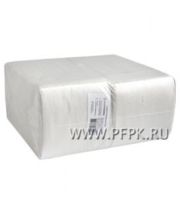 Салфетки бум. БИГ ПАК в П/Э 24х24, 1-слойн.,  (400 листов) Белые (С)