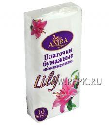 Платки носовые RELUX 2-слойные (уп.10 листов) Лилия