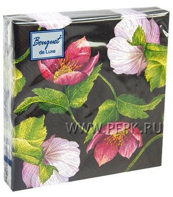 Салфетки бум. DESNA BOUQUET de LUXE 24х24, 3-сл.,с рис. (25 листов) Декоративный цветок