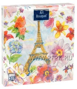 Салфетки бум. DESNA BOUQUET 33х33, 3-сл.,с рис. (20 листов) Париж