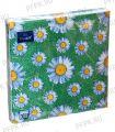 Салфетки бум. DESNA BOUQUET 33х33, 3-сл.,с рис. (20 листов) Daisy (Ромашки) на з..