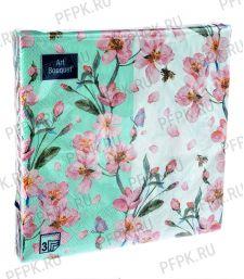 Салфетки бум. DESNA BOUQUET 33х33, 3-сл.,с рис. (20 листов) Цветущий сад