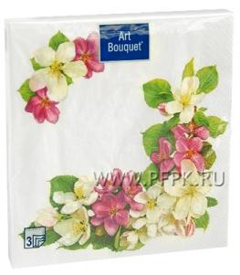 Салфетки бум. DESNA BOUQUET 33х33, 3-сл.,с рис. (20 листов) Яблоневый цветок