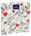 Салфетки бум. DESNA BOUQUET 33х33, 3-сл.,с рис. (20 листов) Орнамент с сердцем