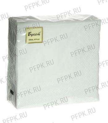 Салфетки бум. DESNA BOUQUET TROPICAL 25х25, 2-сл. (50 листов) Белые