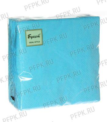 Салфетки бум. DESNA BOUQUET TROPICAL 25х25, 2-сл. (50 листов) Бирюзовые