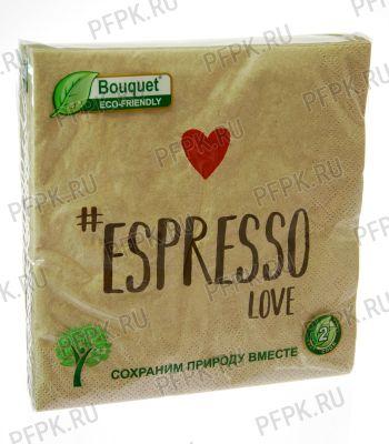Салфетки бум. DESNA BOUQUET ECO-FRIENDLY 33х33, 2-сл. (25 листов) крафт Espresso love