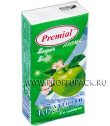 Платки носовые PREMIAL 3-слойные (уп.10 листов) Яблоко