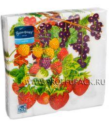 Салфетки бум. DESNA BOUQUET 33х33, 2-сл.,с рис. (20 листов) Летние фрукты