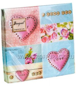 Салфетки бум. DESNA BOUQUET 33х33, 2-сл.,с рис. (20 листов) Love (Любовь)