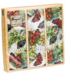 Салфетки бум. DESNA BOUQUET 33х33, 2-сл.,с рис. (20 листов) Бабочки и цветы