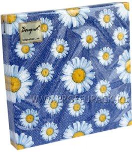 Салфетки бум. DESNA BOUQUET 33х33, 2-сл.,с рис. (20 листов) Daisy (Ромашки)