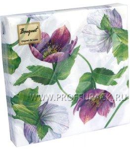 Салфетки бум. DESNA BOUQUET 33х33, 2-сл.,с рис. (20 листов) Декоративный цветок
