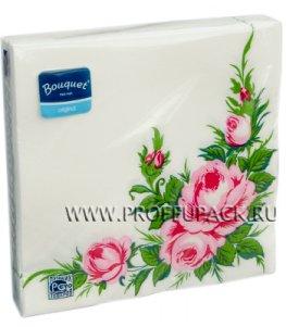 Салфетки бум. DESNA BOUQUET 33х33, 2-сл.,с рис. (20 листов) Дикая роза NEW