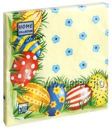 Салфетки бум. DESNA BOUQUET 33х33, 2-сл.,с рис. (20 листов) Пасхальные яйца-1