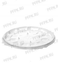 Тортница круг. d193мм Т-192 ДНО белая КОМУС (без крышки) ПС Шип