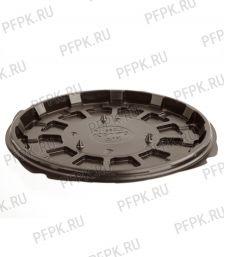 Тортница круг. d166мм Т-165 ДНО коричневая КОМУС (без крышки) ПС Шип