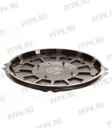 Тортница круг. d193мм Т-192 ДНО коричневая КОМУС (без крышки) ПС Шип