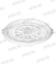 Тортница круг. d193мм Т-019 ДНО белая КОМУС (без крышки) ПС Шип