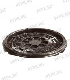 Тортница круг. d180мм Т-018 ДНО коричневая КОМУС (без крышки) ПС Шип