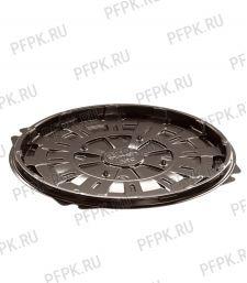 Тортница круг. d193мм Т-019/1 ДНО коричневая КОМУС (без крышки) ПС Шип