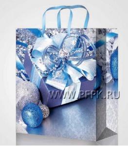 НГ сумочка бумажная 18х22х10 МЕГА (M) М-2208 (Шары)